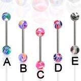 Piercing lengua UV 40 - psicodélico