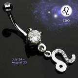 Piercing ombligo zodíaco 04 - Lion