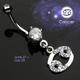 Piercing ombligo zodíaco 05 - Cancer