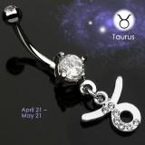 Piercing ombligo zodíaco 06 - Taureau