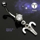 Piercing ombligo zodíaco 09 - Belier