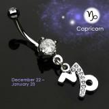 Piercing ombligo zodíaco 10 - Capricuerno