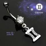 Piercing ombligo zodíaco 12 - Gemeaux