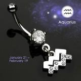 Piercing ombligo zodíaco 11 - Verseau