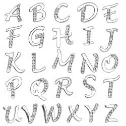 Piercing ombligo letra strass transparentes
