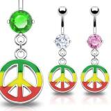 Piercing ombligo canabis 27 - Rasta peace