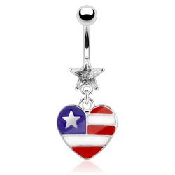 Piercing ombligo corazón 14 - americano