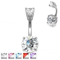 Piercing ombligo cristal 02 - Doble ronda