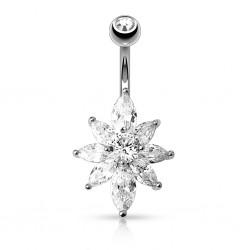 Piercing ombligo cristal 09 - Flor A