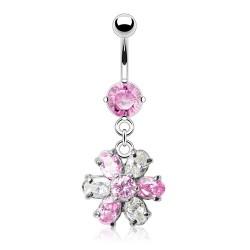 Piercing ombligo cristal 16 - Flor durantee