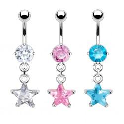 Piercing ombligo cristal 17 - estrella durantee