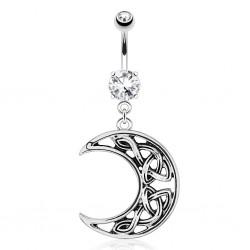 Piercing ombligo luna celta (D60)