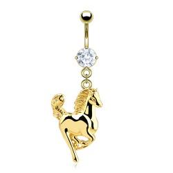 Piercing ombligo chapado-oro 24 - Cheval