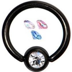 Piercing micro-bcr 21 - PVD negro strass