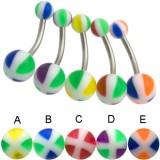 Piercing ombligo UV 22 - cruz