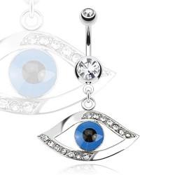 Piercing ombligo ojo azul (D119)