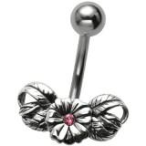 Piercing ombligo Flor 45 - vendimia