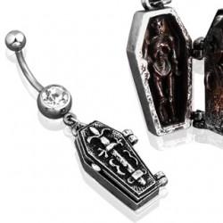 Piercing ombligo gótico 01 - Cercueil