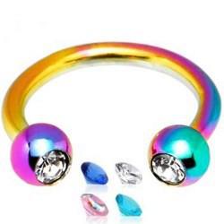 Piercing micro-circular 31 - PVD rainbow strass