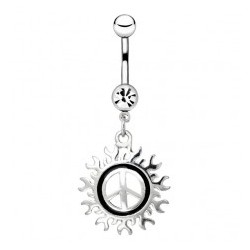 Piercing ombligo tribale 36 - Peace and love