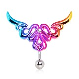 Piercing ombligo tribale 57 - invertida rainbow A
