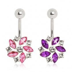 Piercing ombligo cristal 15 - Flor twist