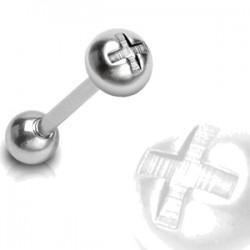 Piercing lengua 30 - Bola cruz