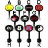 Piercing lengua logos serie PTFE black