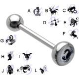 Piercing lengua logo serie zodiac