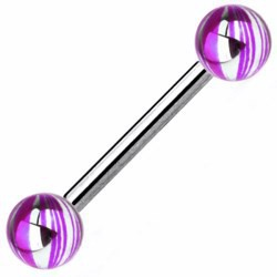 Piercing lengua 06 - Gris y púrpura