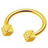 Piercing micro-circular 66 - chapado-oro dados