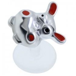 Piercing micro-labret PTFE 23 - cebra