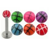 Piercing micro-labret acrílico 10 - UV basket Bola
