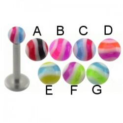 Piercing micro-labret acrílico 11 - UV Bola estriadoe
