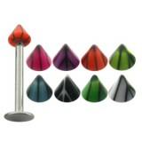 Piercing micro-labret acrílico 12 - UV basket Pico