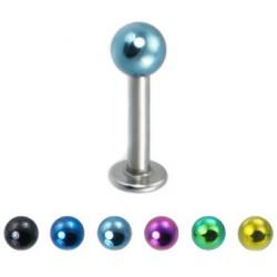 Piercing labret 126 - PVD y acero Bola