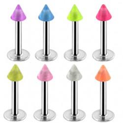 Piercing labret UV 09 - Pico fluorescentee