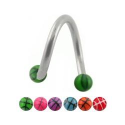 Piercing micro-espirale 14 - UV basket Bolas