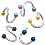 Piercing espirale 03 - PVD y acero Bolas