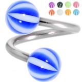 Piercing espirale 46 - UV beach-ball