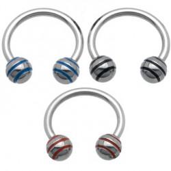 Piercing circular 07 - acero Bolas estriado