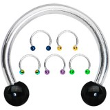 Piercing circular 09 - PVD y acero Bolas