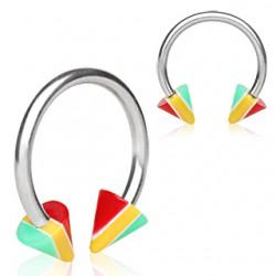 Piercing circular 17 - UV Rasta Picos