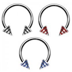Piercing circular 28 - Métal Picos estriado