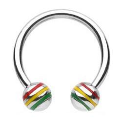 Piercing circular 21 - acero rasta Bolas