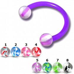 Piercing micro-circular 106 - Flexible ágata