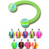 Piercing micro-circular 99 - Flexible estriado