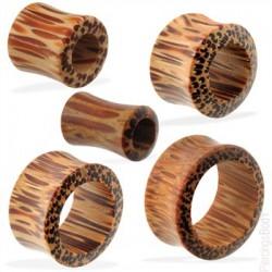 Túnel curva en madera de palma