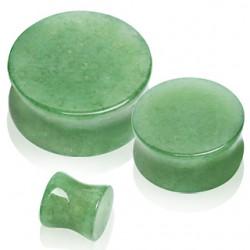 Plug curvo en jade aventurina
