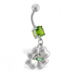 Piercing ombligo amuleto 05 - trébol